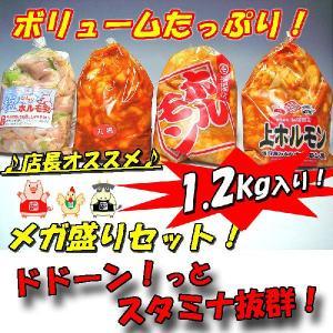 【送料無料】訳あり!人気ホルモン4種盛りセット1.2kg入り!