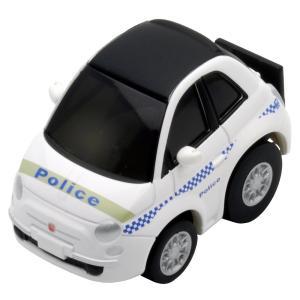 シドニーの高級住宅地、ローズベイで働くパトカーはキャンバストップの500C。 実車にも警光灯類は装着...