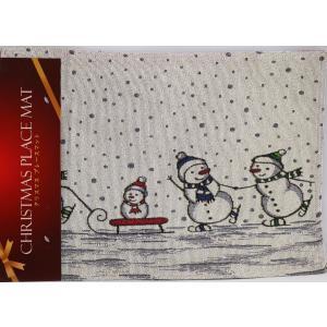 クリスマスプレイスマット スノーマン