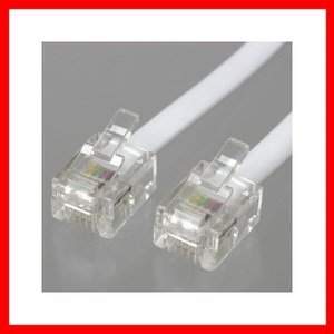 YAZAWAストレートモジュラーケーブル 15m 白TP1150W(TP1150W)|ecj