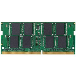 エレコム EU RoHS指令/DDR4-2400/260pin S.O.DIMM/PC4-19200/8GB/ノート用(EW2400-N8G/RO)|ecj