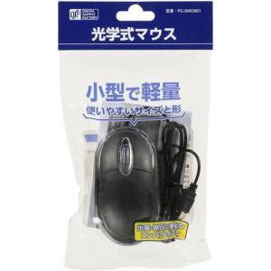 小型・軽量 光学式マウス(USB A/コード1m/ブラック) PC-SMCM01-K ecjoyecj23