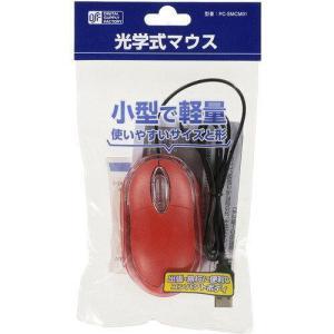 小型・軽量 光学式マウス(USB A/コード1m/レッド) PC-SMCM01-R ecjoyecj23