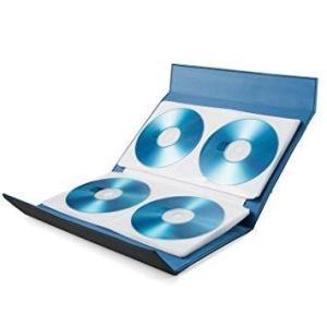 エレコム CD/DVD/Blu-ray対応手帳型メディアケース/マグネット開閉/56枚収納/ブラック(CCD-CB56BK)|ecjoyecj23