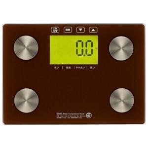 体重体組成計(強化ガラス製測定台/単4形×3本使用/ブラウン) HB-KG12H2-T ecjoyecj23