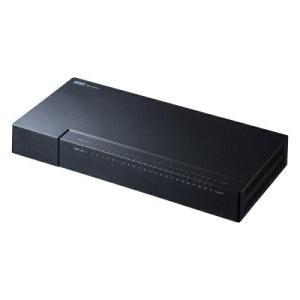 サンワサプライ ギガビット対応 スイッチングハブ(24ポート・マグネット付き)(LAN-GIGAP2402BK)|ecjoyecj24