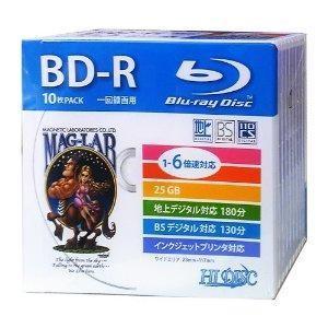 磁気研究所 HI DISCブルーレイ録画用25GB 6倍速デジタル用5mmPケース10枚入HDBD-R6X10SC(HDBD-R6X10SC)|ecjoyecj24