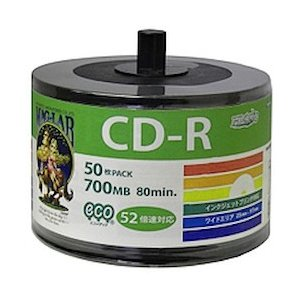 MAG-LAB データ用CD-R 52倍速 50枚 スピンドル 詰め替え用 エコPスタッキング(HDCR80GP50SB2)|ecjoyecj24
