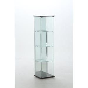 不二貿易 ガラスコレクションケース 4段(背面ミラー付き) TMG-G21 【96046】 北海道、沖縄、離島配送不可|ecjoyecj24