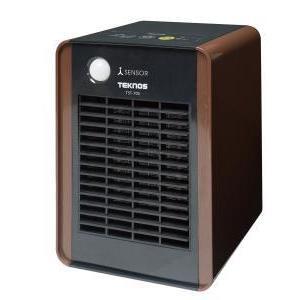 テクノス 消臭ミニセラミックヒーター人感センサー付 ブラウン TST-705 ecjoyecj24
