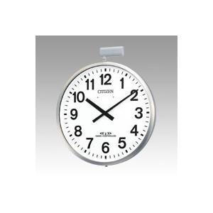 CITIZEN (シチズン) 電波 掛け時計 パルウエーブ M611B 大型 屋外 用 防雨 ステンレス シルバー 4MY611-B19|ecjoyecj25