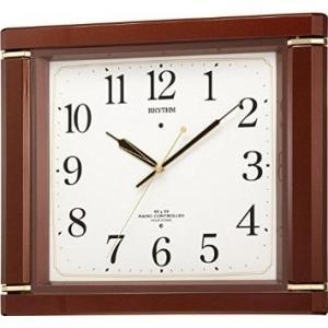 リズム時計工業 リズム時計 RHYTHM 電波 掛け時計 ネムリーナM494R 毎正時 時報 付 茶 4MN494RH06|ecjoyecj25
