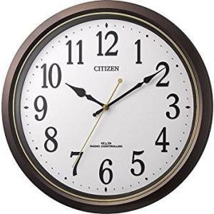 リズム時計 シチズン 掛け時計 電波 アナログ M517 地震対策 プラスチック風防 連続秒針 茶 CITIZEN 8MY517-006|ecjoyecj25