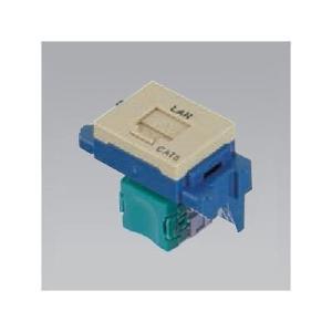 ナショナル 埋込型情報モジュラジャック CAT5E 「LAN」表示付 利休色 NR3160G ecjoyecj26