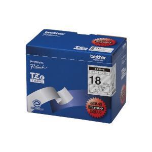 ブラザー工業 TZeテープ ラミネートテープ(透明地/黒字) 18mm 5本パック TZe-141V ecjoyecj26