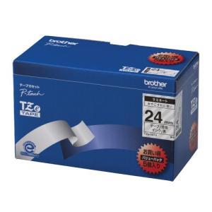 ブラザー工業 TZeテープ ラミネートテープ(透明地/黒字) 24mm 5本パック TZe-151V ecjoyecj26