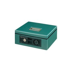 コクヨ 手提げ金庫B5シリンダー錠・ダイヤル錠緑 (CB-12G)|ecjoyecj26
