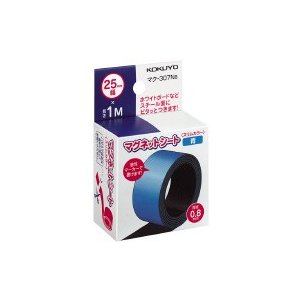 コクヨ マグネットシートスリム25mm青 (マク-307NB) ecjoyecj26