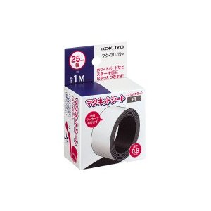 コクヨ マグネットシートスリム25mm白 (マク-307NW) ecjoyecj26