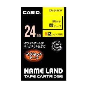 カシオ ラベルライター ネームランド テープ 24mm XR-24JYW マグネット黄 ecjoyecj26