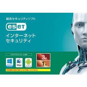 キヤノンITソリューション ESET インターネット セキュリティ 1台3年(カードタイプ) Windows/Mac (CMJ-ES12-002)|ecjoyecj26