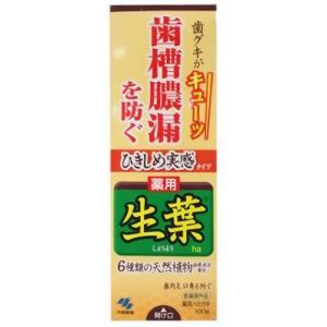 小林製薬 ひきしめ生葉(しょうよう) 歯槽膿漏を防ぐ 薬用ハミガキ ハーブミント味 100g|ecjoyecj27