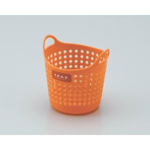 イノマタ化学 コモバスケット(ソフトな小物入れ) ミニ オレンジ サイズ:直径約110×112mm|ecjoyecj27