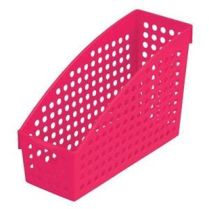イノマタ化学 ストックスタンド/ブック/マガジン A4 ローズピンク サイズ:10.4×27.8×高さ17.8cm|ecjoyecj27