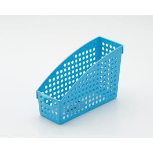 イノマタ化学 ストックスタンド A4 ブルー  サイズ:10.4×27.8×高さ17.8cm|ecjoyecj27