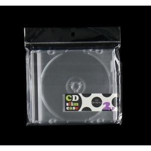 石田工業 DVD / CDスリムケース  2個入 透明タイプ 5mm幅|ecjoyecj27