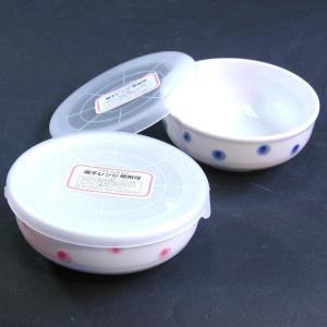IMA パック小鉢小  ドット(フタ付陶器、レンジ可) サイズ:約直径11x高さ4.5cm 1個(色は選べません)|ecjoyecj27