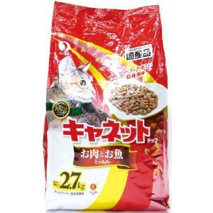 ペットライン 国産キャネットチップ お肉とお魚ミックス 2.7kg