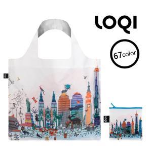 ■商品名  LOQI エコバッグ(収納ポーチ付き) ローキー バッグ bag セレブ ブランド [l...