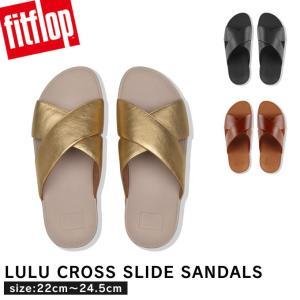 ■商品名:fitflop LULU CROSS SLIDE SANDALS LEATHER サンダル...