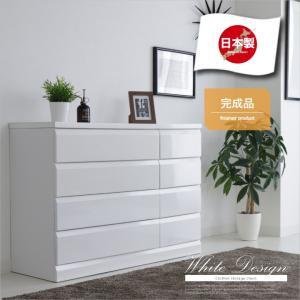 安心の日本製 真っ白なエナメル塗装で光沢があり美しい仕上がり シンプルなデザインのチェストです   ...