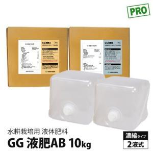 水耕栽培 液体肥料 GG液肥AB 二液タイプ 10kg (10L) 2液式  農家 植物工場 業務用  直送|eco-guerrilla