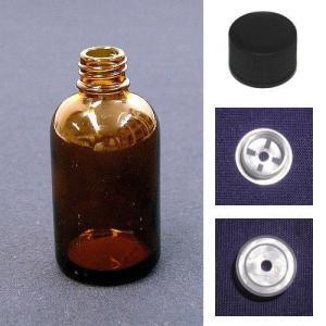 遮光瓶- LTシリーズ  20ml   穴開き栓+キャップセット