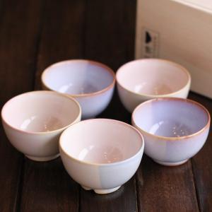 Shikisai 色彩 まめ椀5客 木箱入り萩焼 湯のみ 萩焼き コーヒーカップ 萩焼 ペアカップ 萩焼き 湯呑み 茶碗|eco-kitchen