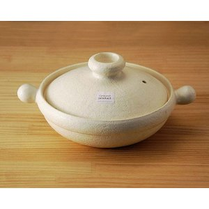 White clay pot M 両手鍋 大樹(たいき)