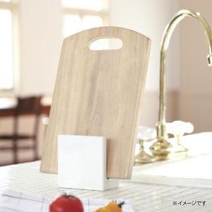 スタンド 山崎実業 カッティングボードスタンド カレ ホワイトまな板立て まな板 包丁 収納|eco-kitchen|02