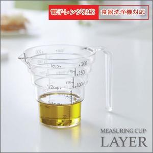段々計量カップ 200ml計量カップ 200ml 耐熱 おしゃれ クリア 山崎実業|eco-kitchen