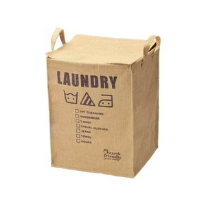 持ち手付きランドリーボックス58-40インテリア 収納家具 ランドリーボックス 麻製|eco-kitchen