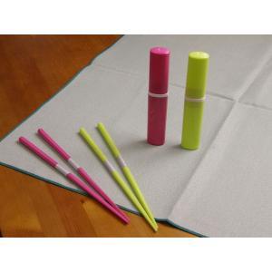 エコ箸ピンク ライムグリーン ネコポス可 ポイント消化 eco-kitchen
