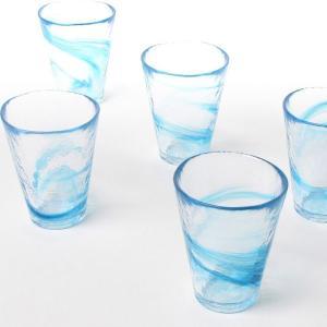 月夜野工房 青風 ビアグラス 5個セット[グラス セット ビール ガラス コップ 冷茶グラス 麦茶 父の日 グラス]