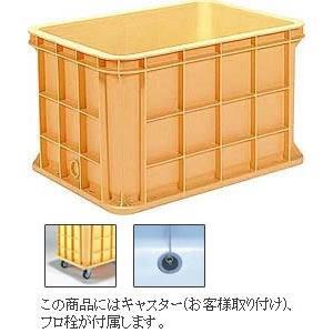 三甲 サンコー コンテナ ジャンボックス #200 キャスター・フロ栓付き 個人宅送料別途|eco-life