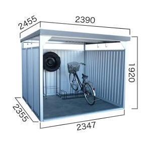 【ダイマツ×環境生活】自転車置き場 ダイマツ多目的万能物置 DM-16壁面パネルロング型  ※お客様組立品 送料無料|eco-life