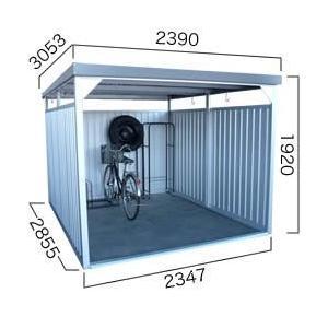 【ダイマツ×環境生活】自転車置き場 ダイマツ多目的万能物置 DM-20壁面パネルロング型  ※お客様組立品 送料無料|eco-life