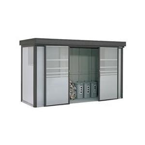 ヨドコウ ゴミ収集庫 ダストピット Fタイプ(DPF型) DPFS-3713 積雪型 (35世帯用)|eco-life