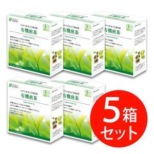 エコワン 有機煎茶 粉末スティック 30包入×5箱(150杯分) 鹿児島県産 粉末茶|eco-one