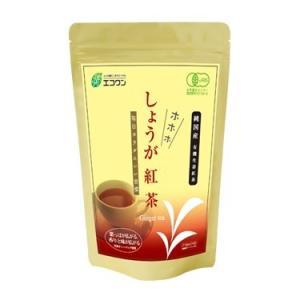 エコワン 有機生姜紅茶 ホホホしょうが紅茶 ティーバッグ 24包入 茶葉もしょうがも国産有機|eco-one